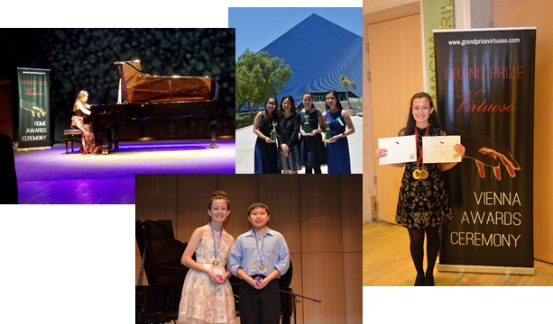 Collage of Ashley Dixon winning various competitions in 2018