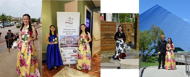 Collage of Ashley Dixon winning various competitions in 2019