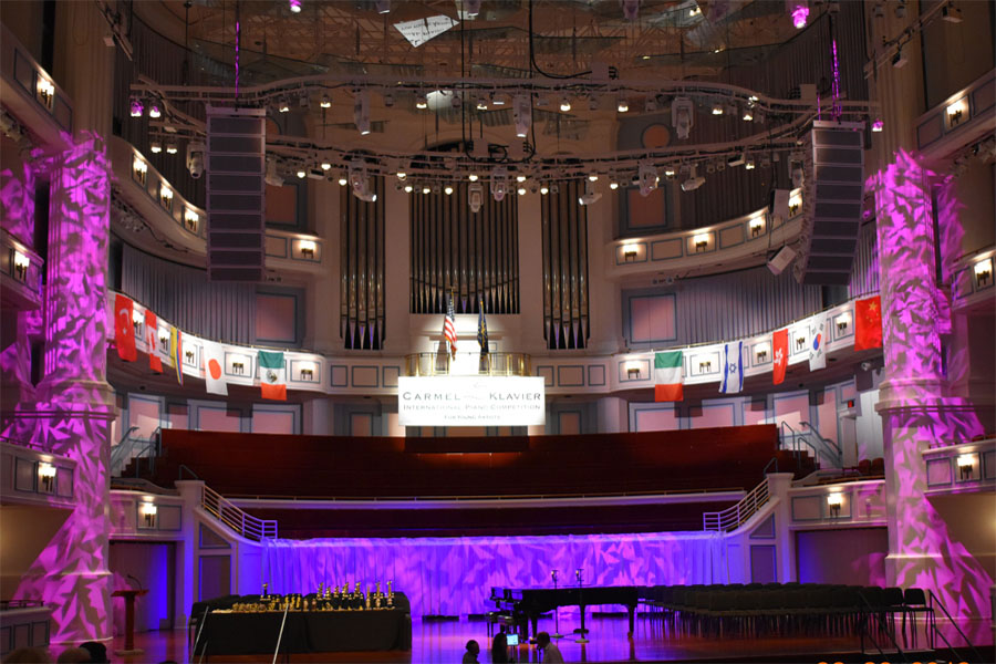 The stage is set at the Carmel Klavier International Piano Competition